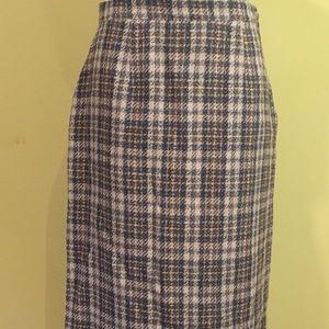 Vintage 1980's Plaid Wool Skirt
